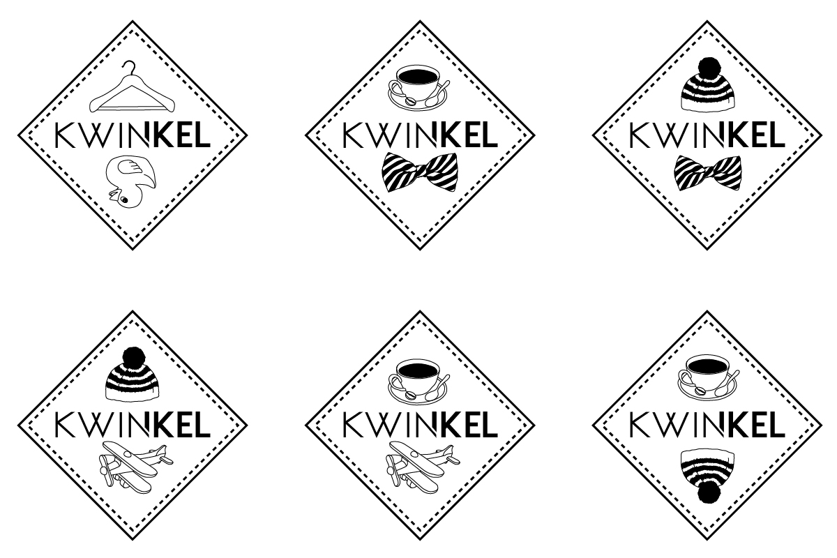 kwinkel logo design kids store, graphic design, branding