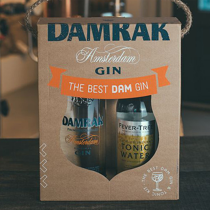 Damrak Gin packaging